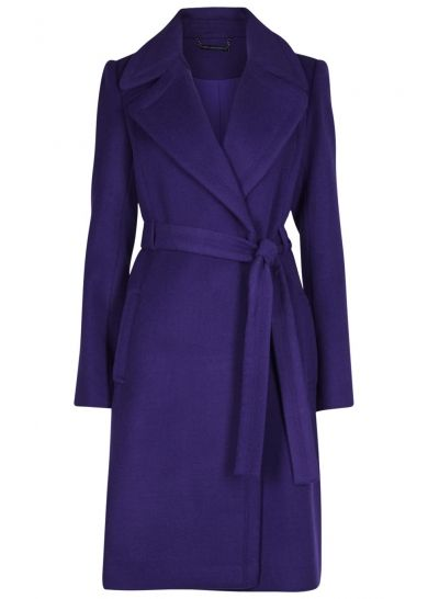 Diane von Furstenberg Michaele belted wool blend coat
