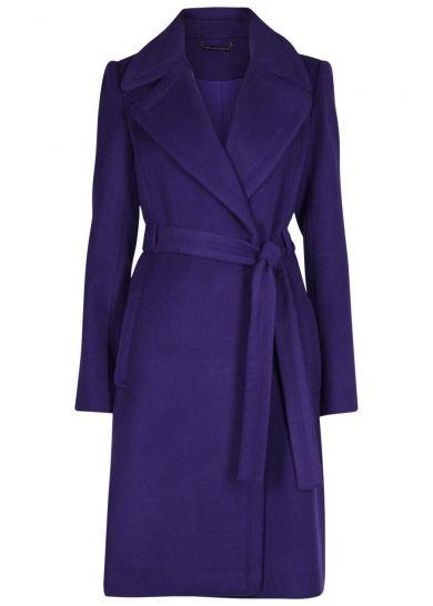 Diane von Furstenberg Michaele belted wool blend coat