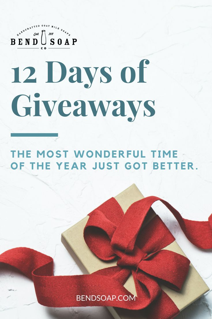 Celebrate this holiday season with Bend Soap Company's 12 Days of Giveaways Sweepstakes! Enter now for a chance to be one of the 12 winners who'll receive a custom-made gift basket filled with the NEW Peppermint Lip Butter, Peppermint Sea Salt Scrub, Tangerine Spice Goat Milk Soap, and Mount Bachelor Pine Goat Milk Soap. #BendSoapCompany