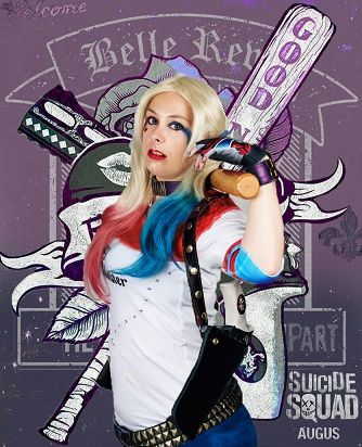 Suicide Squad Promo poster. Cosplay Harey quinn