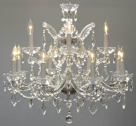 This Beautiful Chandelier Is Trimmed With Empress Crystal(TM) Maria Theresa  Crystal Chandelier. A Great European Tradition.