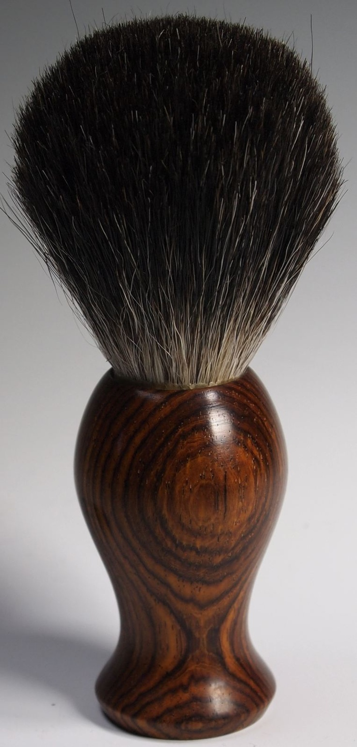 turned wood shaving brushes
