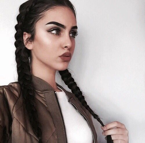 makeup, girl, and braid image