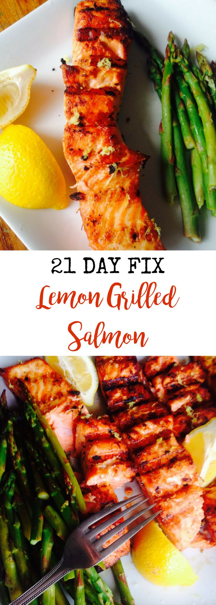 Lemon Grilled Salmon {21 Day Fix}   Confessions of a Fit Foodie