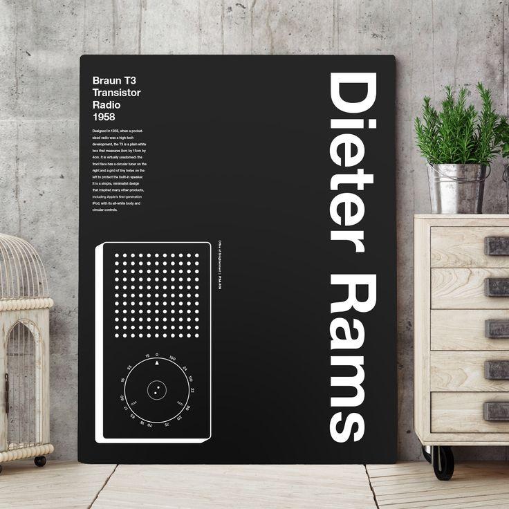 Dieter rams apple ipod helvetica typographic poster quote