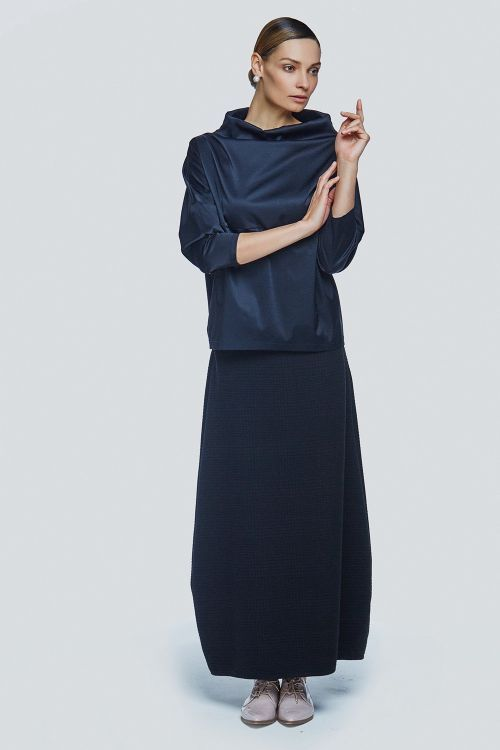Lesel - Блуза футляр атлас с карманами