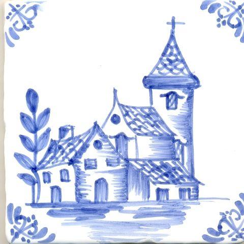 Cenefa de una ermita en colores azules