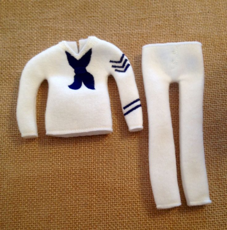 """Elf Navy Sweater and Pants Set for your favorite Elf or 12"""" Doll by LoveOnANeedle on Etsy"""