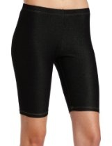 Steve Madden Legwear Womens Black Denim Bike Short