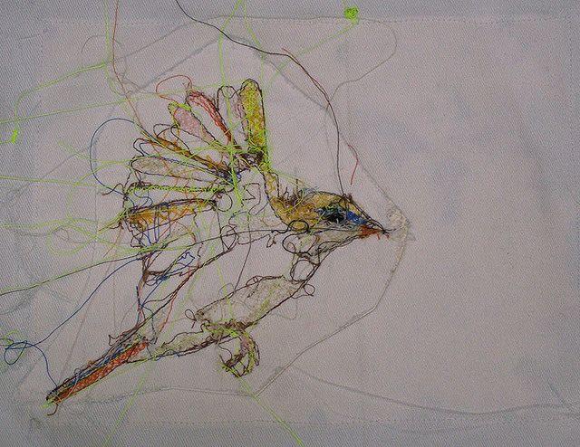 Meg / Sabine / Louisa - sewn bird