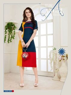 Specification : NAME :	cocktail TOTAL DESIGN :	8 PER PIECE RATE :	 435/- FULL CATALOG RATE :	 3480/- WEIGHT :	5 SIZE :	M | L | XL | XXL | Type :	Designer Kurtis MOQ :	Minimum 8 Pcs. Fabric Description :	Linen Rayon with sleev attech | Length - 45""