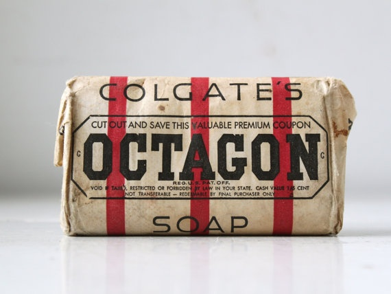 vintage 1920s Octagon soap Unopened wrapped by Luncheonettevintage, $8.00