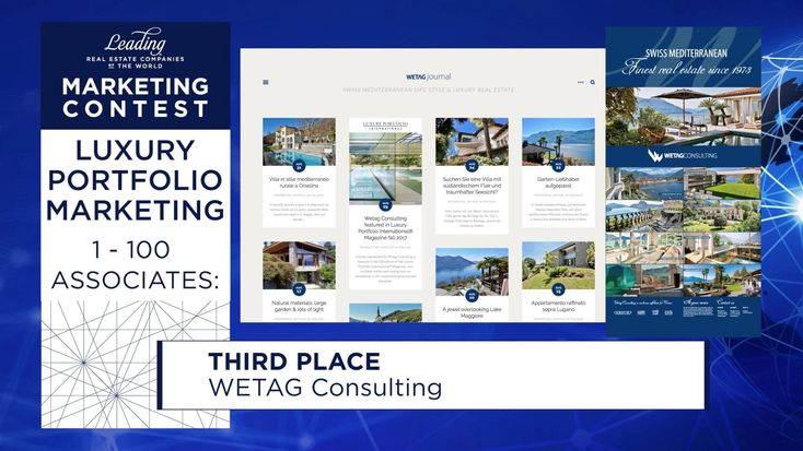 Wetag Consulting received the award for Luxury Portfolio Marketing 2018,?signifying excellence in luxury real estate marketing and exemplary incorporation of the Luxury Portfolio International??brand.? #realestatebranding