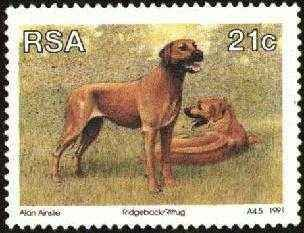 Ridgeback Stamp Republic of South Africa