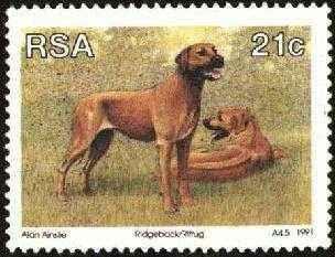 Ridgeback Stamp Republic of South Africa