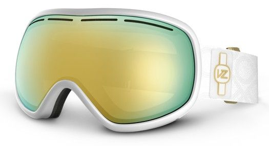WANT!!!!!!! Von Zipper Chakra Goggles - white gloss/gold chrome lens - Snowboard Shop > Snowboard Goggles > Women's Snowboard Goggles