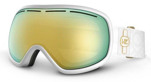 WANT!!!!!!! Von Zipper Chakra Goggles - white gloss/gold chrome lens - Snowboard Shop > Snowboard Goggles > Women's Snowboard Goggles