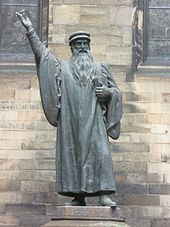 In 1559, John Knox returned from ministering in Geneva to lead the Reformation in Scotland.