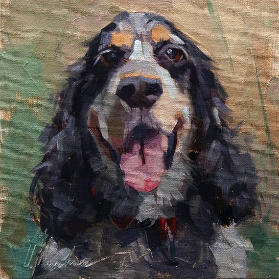 Custom Pet Oil Painting Custom Pet Portraits Animal Painting