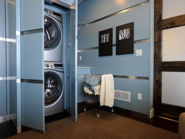 Die besten 25+ Gestapelte Waschmaschine und Trockner Ideen auf - waschmaschine in der k che verstecken