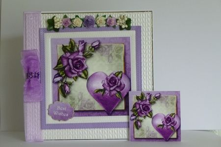 Hearts   Flowers   Heritage Roses on Craftsuprint - View Now!