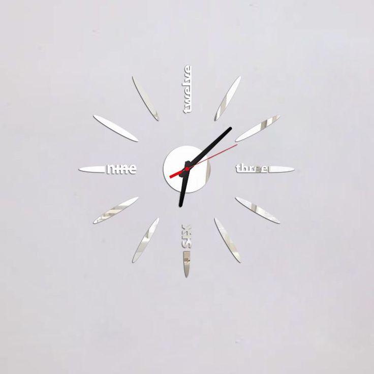 3D modern style mirror clock