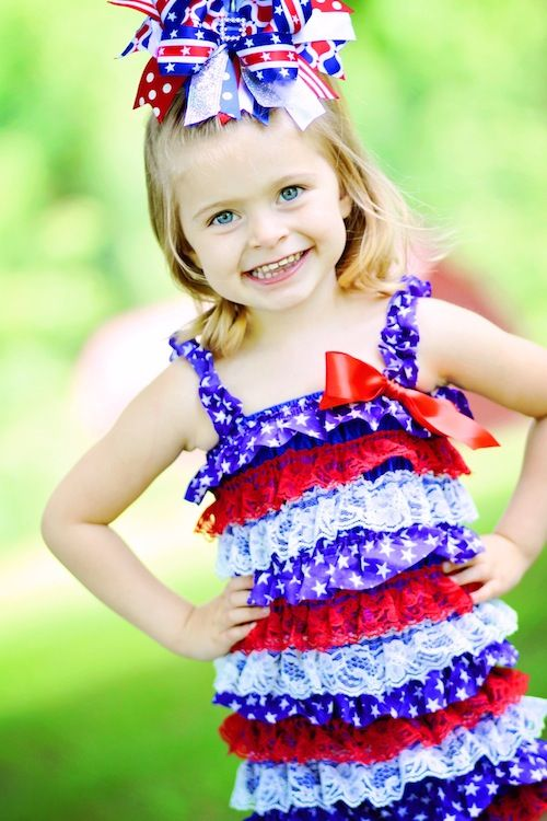 244 Best 4th Of July Dresses For Girls Images On Pinterest Sewing