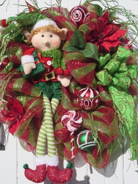 Elfo Navidad guirnalda guirnalda de Elf Deco Navidad