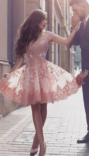 Gorgeous Short Sleeve Prom Dress,Short Dress,Lace 2017 Homecoming Dress Short Tulle Prom Dress,A-line Prom Dress,Mini Dresses,Homecoming Dress