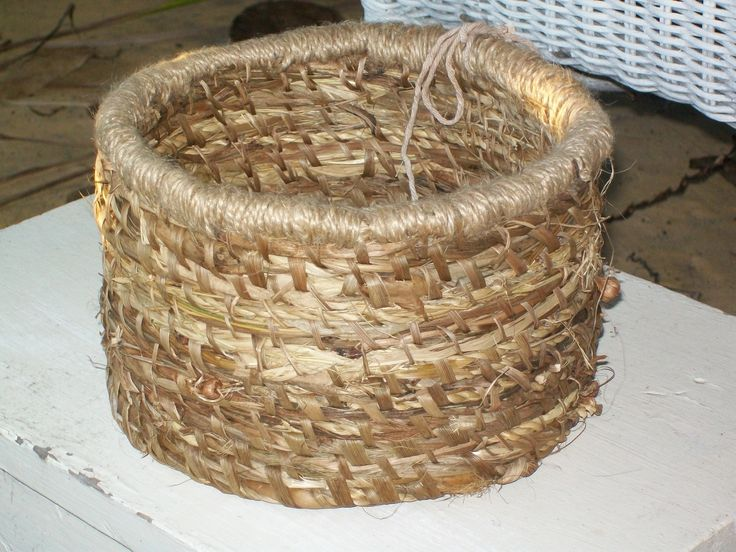 Stitched by me, trimmed with jute, stitched with cordyline