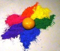 """Los primeros ejercicios prácticos de color los realizaremos con """"tempera"""" , que es el material seleccionado para una primera aproximación al..."""