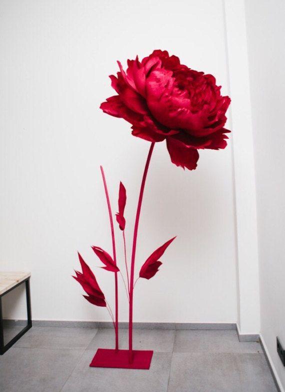 Partito decorazione gigante carta fiore di MioPaperArt su Etsy