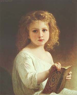 Story Book by William Bouguereau