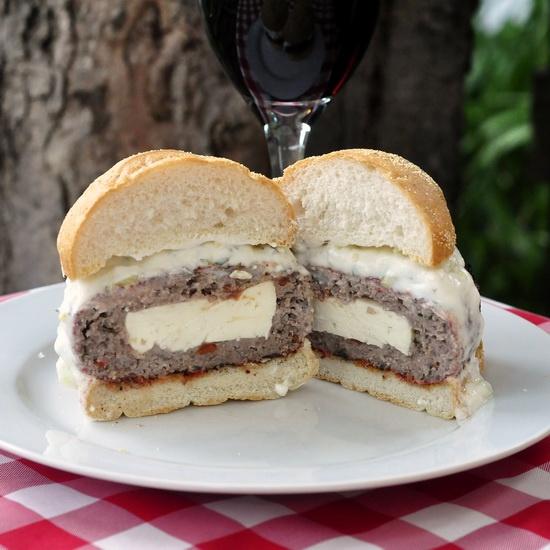 ... tzatziki always cheese stuffed lamb burgers with lemon mint tzatziki