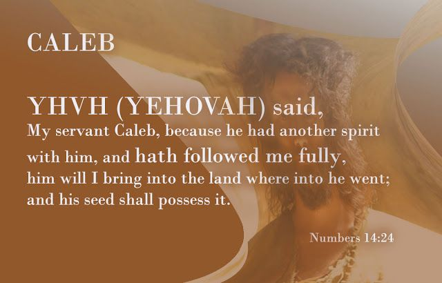 """Easy understanding of the Holy Bible.: """"Caleb"""""""