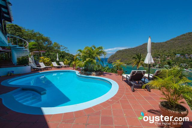 It's all about the views at this upper-middle-range guesthouse overlooking St. Lucia's stunning Marigot Bay. There are only five rooms -- aptly called suites since they have private kitchenettes -- with quality furnishings, and access to shared living spaces. The highlight is certainly the terrace with an outdoor pool, which has a gorgeous vantage point (without a railing: beware kids), but the hillside location is also walking distance to a beach, water sports, restaurants, and a popular…