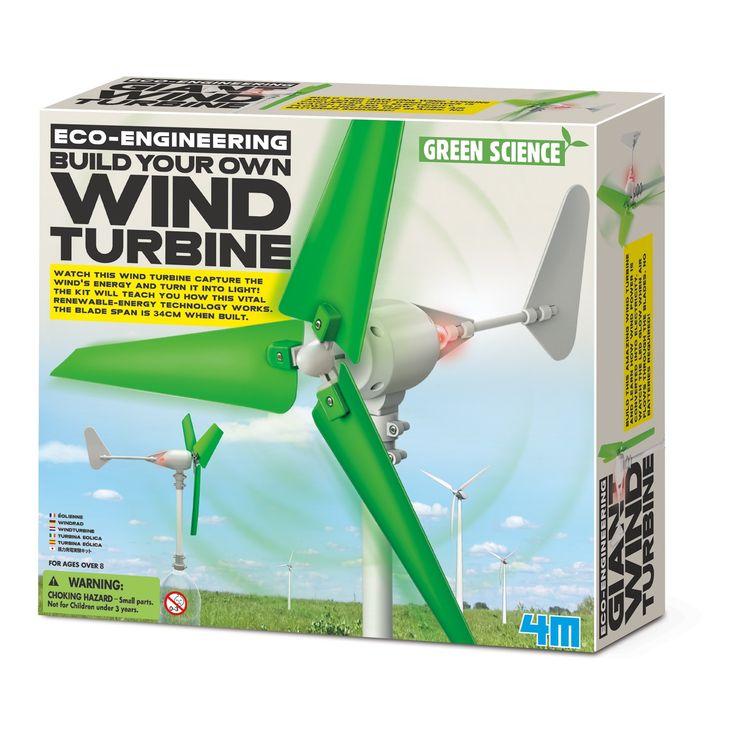Toysmith 4M Eco-Engineering Build Your Own Wind Turbine