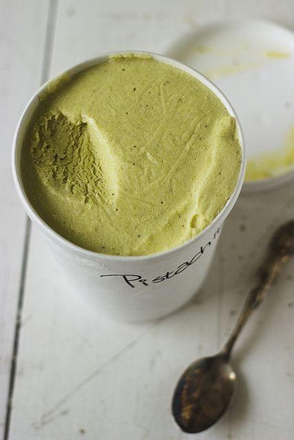 Pistachio Ice Cream (shelled pistachios, cream cheese, whole milk, cornstarch, heavy cream, sugar, corn syrup)
