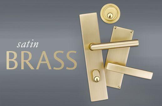 Satin Brass Door Hardware From Emtek What S New