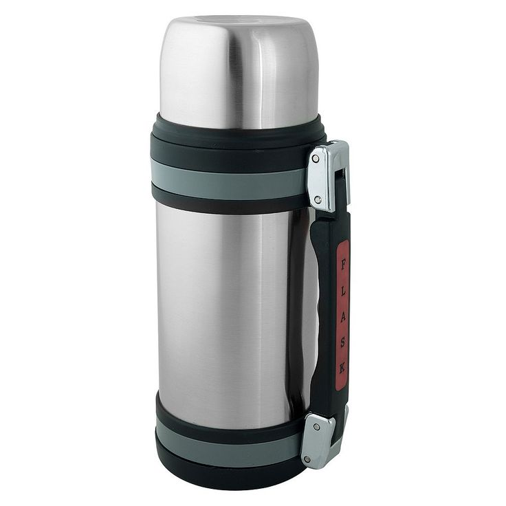 Brentwood 1-Liter Vacuum-Insulated Stainless Steel Water Bottle, Silver