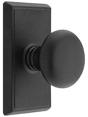 Doorsets. Providence Door Set With Round Brass Knobs.