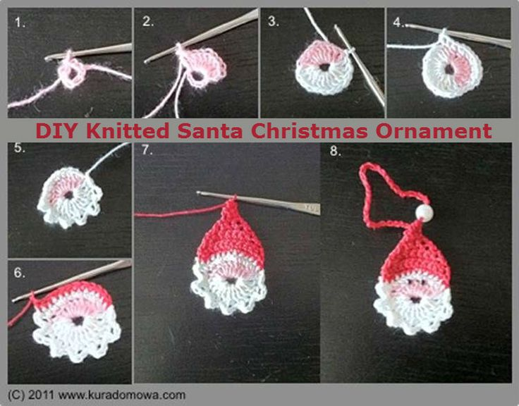 DIY Knitted Santa Christmas Ornament I Luv DIY SreQklJD