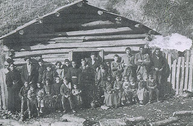 The Teacher & Her Class In Front of Their Schoolhouse in Pike County, Kentucky Before 1910 by The Nite Tripper, via Flickr
