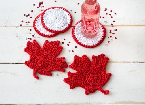 Sous Verres Feuilles D 39 Rable Crochet S Au Crochet Mod Le Gratuit Fran Ais D Co Diy