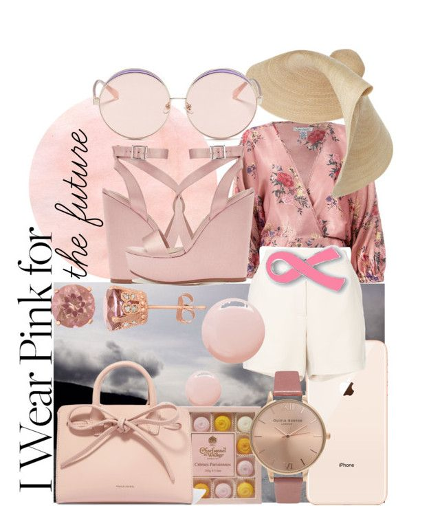 """Pink dream"" by bernadett-soos on Polyvore featuring Miss Selfridge, Sans Souci, Jacquemus, Elie Saab, Topshop, Olivia Burton, Mansur Gavriel and N°21"