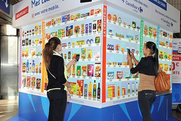 Carrefour teste un magasin virtuel à La Part-Dieu (Lyon)