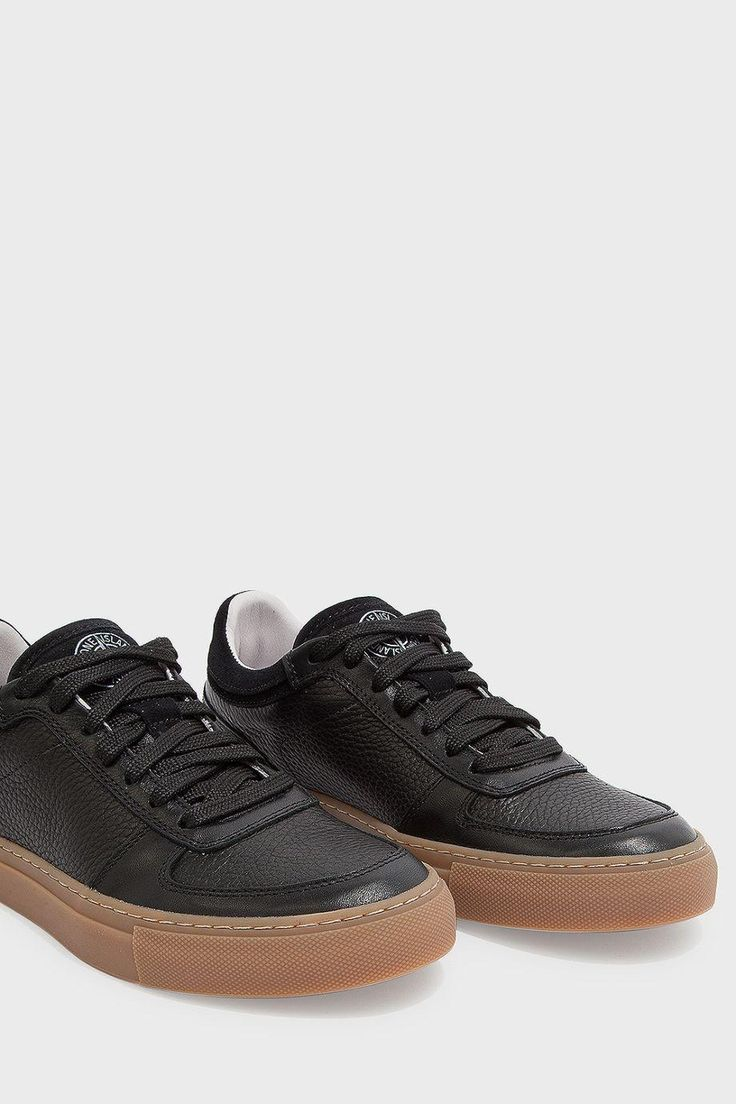 STONE ISLAND Gum Sole Leather Trainers. #stoneisland #shoes #