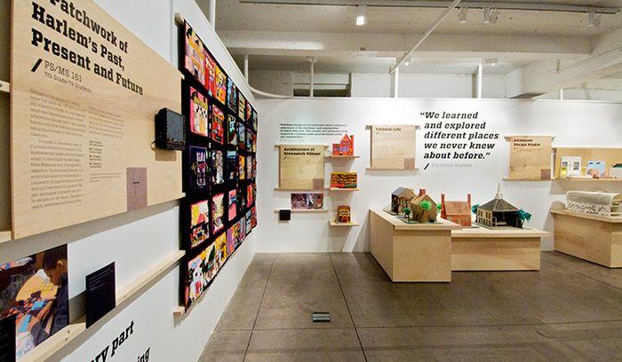 D Exhibition Design Tutorial : Building connections exhibition birch plywood panels