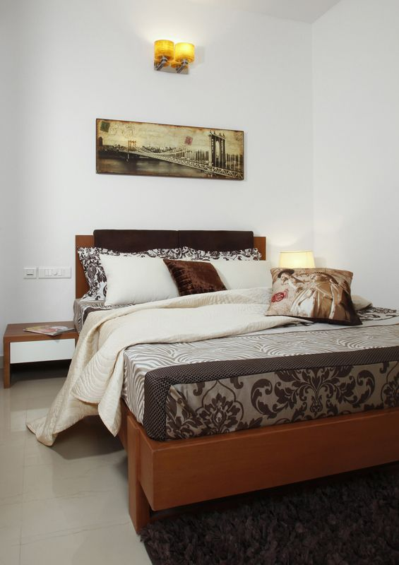 Guest Bed - Skyline Ivy League      SAVIO and RUPA Interior Concepts Bangalore | professional apartment interior designers Bangalore | Modern villa Interior Designers | Residential Interior Designs