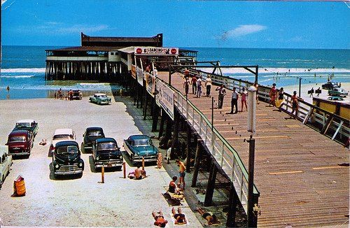 Jax beach old pier jacksonville in the early days for Jacksonville fishing pier